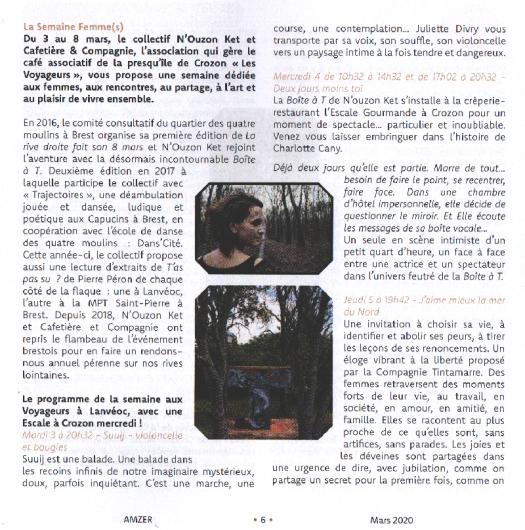 Page 6 AMZER - FEMME(s) - N'Ouzon Ket-Les Voyageurs - Février 2020